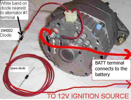 Alternator Harness on 57 Chevy Wiring Harness Diagram