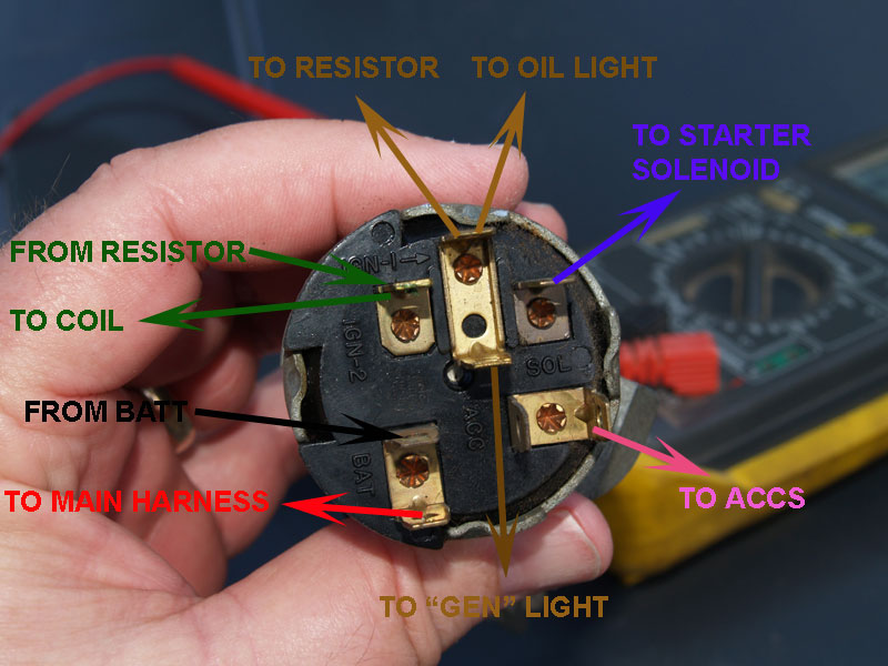 Ignition Switch stock switches to aftermarket harness [archive] trifive com 1956 chevy headlight switch wiring diagram at gsmportal.co