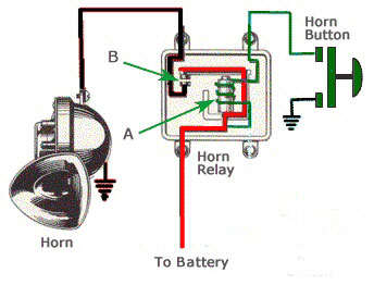 horn relay horn relay trifive com, 1955 chevy 1956 chevy 1957 chevy forum 1955 chevy horn wiring diagram at gsmx.co